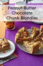 halloween treats u2013 peanut butter chocolate chunk blondies design