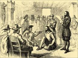 history wanoag pilgrim treaty signed on april