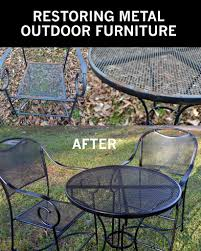 Metal Garden Table And Chairs How To Take Your Rusty Outdoor Metal Furniture And Restore It To