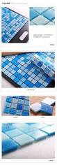 Shower Floor Mosaic Tiles by Swimming Pool Blue Non Slip Glass Mosaic Tile For Toilet Shower