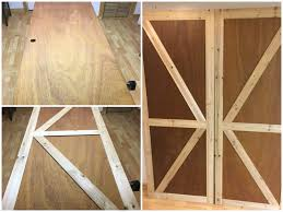 Dutch Barn Door by Remodelaholic How To Make Bypass Closet Doors Into Sliding Faux