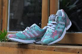 Tiffany Blue Flowers New Running Shoes M19456 Adidas Zx Flux Tiffany Blue Flowers Cool