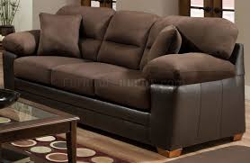 Accent Pillows For Brown Sofa by Godiva Microfiber Sofa U0026 Loveseat Set W Accent Pillows