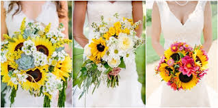 sunflower wedding ideas 21 sunflower wedding bouquet ideas for summer wedding