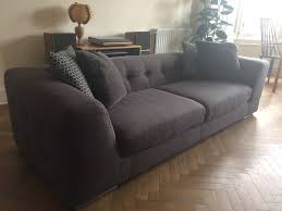 Chesterfield Sofa For Sale by Modern Style Chesterfield 3 Seat Sofa In Charcoal For Sale