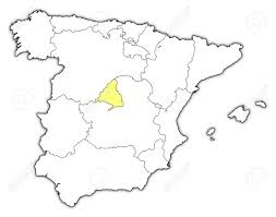 madrid spain map political map of spain with the several regions where madrid