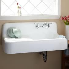 kitchen sinks apron wall mount sink specialty brown fiberglass