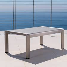 Aluminum Coffee Table Cape Coral Outdoor Aluminum Coffee Table By Christopher