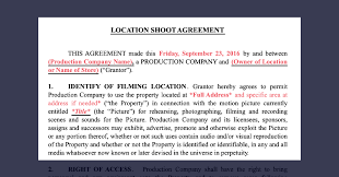 10 Vendor Agreement Templates Free How To Secure Film Locations Free Location Release Form