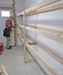 how to build sturdy cool building shelves in garage home decor ideas
