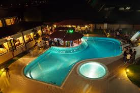 Outdoor Swimming Pool by Swimming Pool At Night Ezeretz Hotel