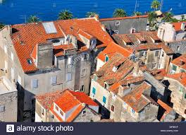 Split Houses by Houses At The Sea Split Croatia Stock Photo Royalty Free Image