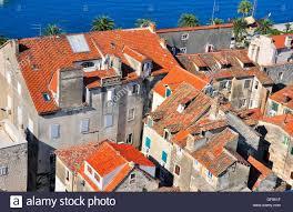 houses at the sea split croatia stock photo royalty free image