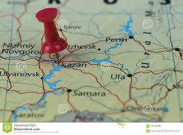 russia football map kazan pinned in a closeup map for football world cup 2018 in