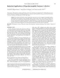 industrial applications of hyperthermophilic enzymes a review