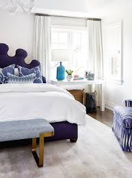 purple bed contemporary bedroom house u0026 home