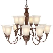Hampton Bay 9 Light Chandelier Hampton Bay 12 Light Bronze Chandelier Bsg81112 The Home Depot