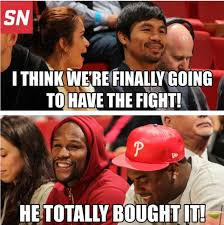 Pacquiao Mayweather Memes - in memes the pacquiao mayweather courtside meeting scoopnest com