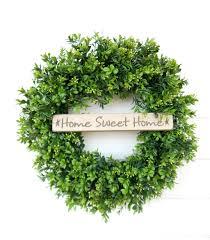 boxwood wreath farmhouse wreath all season wreath farmhouse