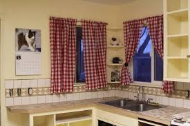 Red And White Curtains For Kitchen by Kitchen Simple Red And White Kitchen Curtian Ideas With Cherry