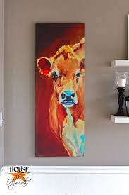 Dining Room Paintings by How Now Orange Cow Dining Room Painting