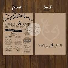 affordable wedding programs rustic wedding programs jpg sai wedding programs