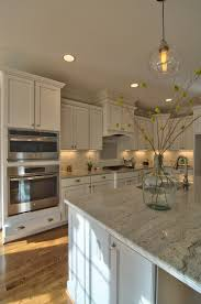 Kitchen Subway Tile Backsplash Pictures by Horizon Custom Builders Beautiful Kitchen With White Cabinets Gray