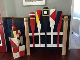 nautical headboard nautical log paddle twin headboard paddles oars and more