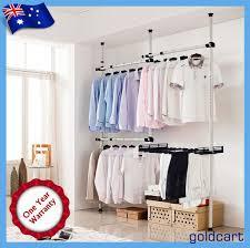 flexi movable coat garment rack diy clothes hanger wardrobe space