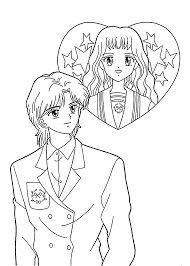 manga coloring pages coloringsuite com