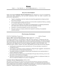 Objectives In Resume Example by Sample Resume Skills For Customer Service Client Service