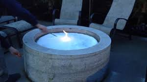 glass for fire pit lighting the natural gas fire pit with a layer of snow on it youtube