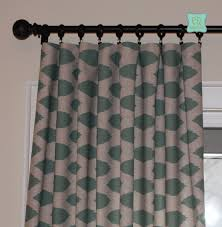 hand crafted custom designer curtain panels eaton blue chipper