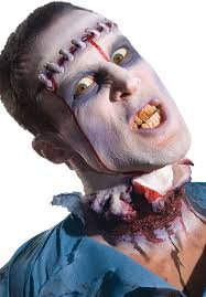 zombie lobotomy prosthetic make up halloween make up escapade uk