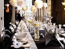 New Year S Yard Decorations by Decorations Outdoor Garden With Long White Table With White