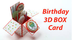 Birthday Day Cards 3d Birthday Card Handmade Unique Pop Up Box B Day Card Making