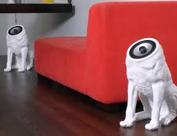woofers speakers with a dog like design gadget flow