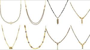 gold black bead necklace images Black bead necklace in gold light weight mangalsutra designs jpg