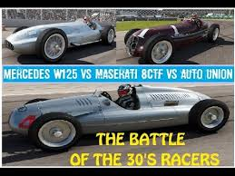 union mercedes auto union vs maserati 8ctf vs mercedes w125