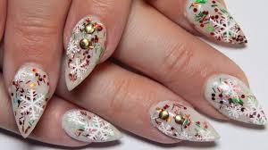 christmas nail designs almond nail nails art