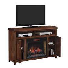 mayfield infrared electric fireplace media console in cherry