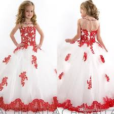 kids wedding dresses 2017 pageant dress white and lace applique