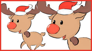 how to draw simple reindeer for christmas card youtube