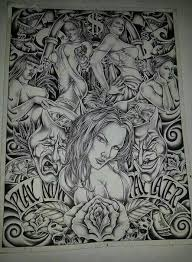 chicano art tattoos and artwork pinterest chicano art