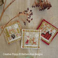 barbara designs ornament trio cross stitch pattern