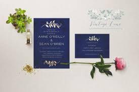 Navy Blue Wedding Invitations Wedding Invitations