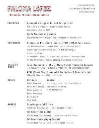 Resume Francais About U2014 Paloma López