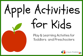 crayon freckles 35 apple activities for kids