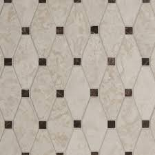 marble mosaic tile in a retro hexagonal with dot