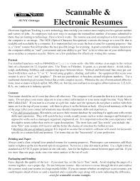 How To Make A Scannable Resume Electronic Resume Definition Resume For Your Job Application